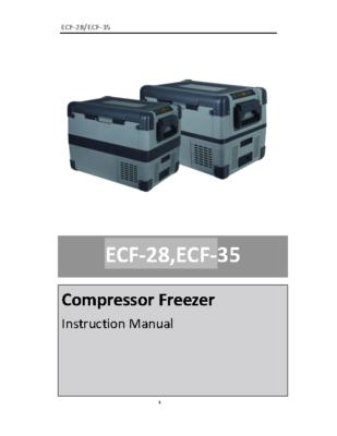 ECF-28 Manual Compressor fridgefreezer